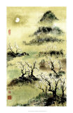 Viewing Plum Blossoms in Moonlight Posters by Nan Rae