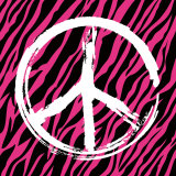 Zebra Peace Poster by Louise Carey