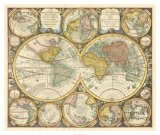 Antique World Globes Giclee Print