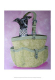 Italian Greyhound Basket Poster by Carol Dillon