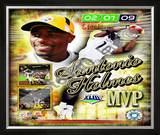 Santonio Holmes Super Bowl XLIII MVP Framed Photographic Print
