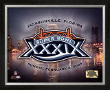 Super Bowl XXXIX LOGO - Jacksonville Florida Framed Photographic Print