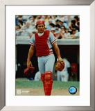 Johnny Bench - Catchers Gear - ©Photofile Framed Photographic Print