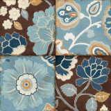 Patchwork Motif Blue II Prints by Alain Pelletier
