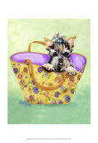 Yorkie Handbag Posters by Carol Dillon