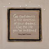 Go Confidently Poster by Karen Tribett