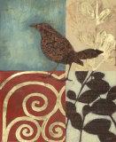 Gilded Sparrow II Print