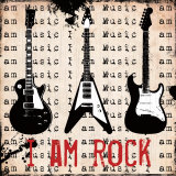 I Am Rock Poster par Louise Carey