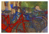 Colorful Bicycles I Art by Danny Head