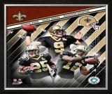 "New Orleans Saints ""Big 3"" Framed Photographic Print"