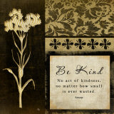 Be Kind Poster by Jennifer Pugh