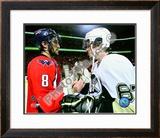 Alex Ovechkin & Sidney Crosby 2008-09 Playoffs Framed Photographic Print