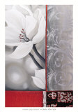 Bohemia Flora White Poster di Jasmin Zara Copley