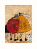 Hugs on the Way Home Art by Sam Toft