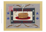 Americanna Bread Print by Wendy Russell