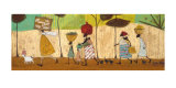 Doris Helps Out on the Trip to Mzuzu Art by Sam Toft