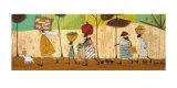 Doris presta aiuto sulla strada per Mzuzu Stampe di Sam Toft