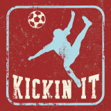 Kickin It Print by Peter Horjus