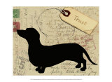 Dachshund Silhouette Posters af Nancy Shumaker Pallan