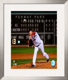 Jon Lester&#39;s 2008 No Hitter Action; Horizontal Framed Photographic Print