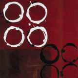 Red Circles I Prints by Laurie Maitland