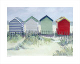 Suffolk Beach Huts Prints by Jane Hewlett