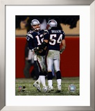 Tom Brady & Tedy Bruschi - 2004-2005 Patriots AFC Division Playoff Game Framed Photographic Print