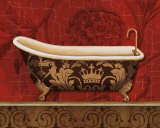 Royal Red Bath II Posters by Lisa Audit