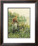 Girl Fishing Print by Daniel Ridgway Knight