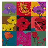 Pop Poppies Póster por Don Li-Leger