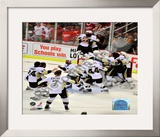 Pittsburgh Penguins Celebration Game 7 of the 2008-09 NHL Stanley Cup Finals Framed Photographic Print