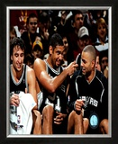2005 - Manu Ginobili / Tim Duncan / Tony Parker Framed Photographic Print