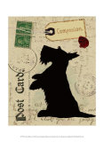 Scottie Silhouette Prints by Nancy Shumaker Pallan