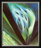 Blue Green Music Print by Georgia O'Keeffe