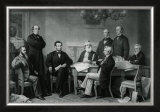President Lincoln's First Reading of the Emancipation Proclamation Framed Photographic Print