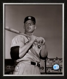 Mickey Mantle- With Bat Looking Towards His Right Framed Photographic Print