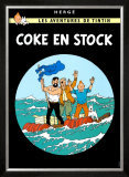 Coke en Stock, c.1958 Poster by Hergé (Georges Rémi)