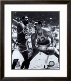 Bill Russell and  Wilt Chamberlain Framed Photographic Print