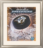 Nashville Predators 2005 - Logo / Puck Framed Photographic Print