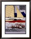 Ruder Regatta Munchner Woche Framed Giclee Print