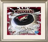 Phoenix Coyotes 2005 - Logo / Puck Framed Photographic Print