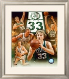 Larry Bird - Legends Of The Game Composite - ©Photofile Framed Photographic Print