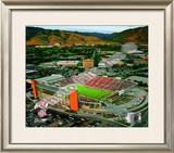Rice-Eccles Stadium University of Utah Utes 2008 Framed Photographic Print