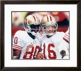 Jerry Rice and Joe Montana Framed Photographic Print