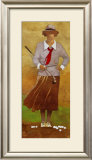 Vintage Woman Golfer Poster by Bart Forbes