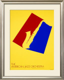 American Jazz Orchestra Concert, c.1980 Framed Giclee Print by Per Arnoldi