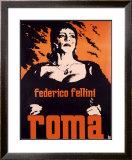 Federico Fellini Roma Framed Giclee Print