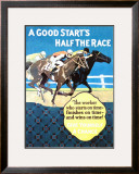A Good Start Is Half the Race Framed Giclee Print by Frank Mather Beatty