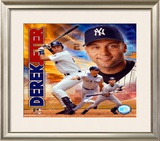 2003 Derek Jeter Portrait Plus Framed Photographic Print
