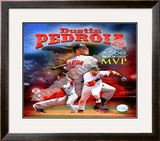 Dustin Pedroia 2008 MVP Framed Photographic Print